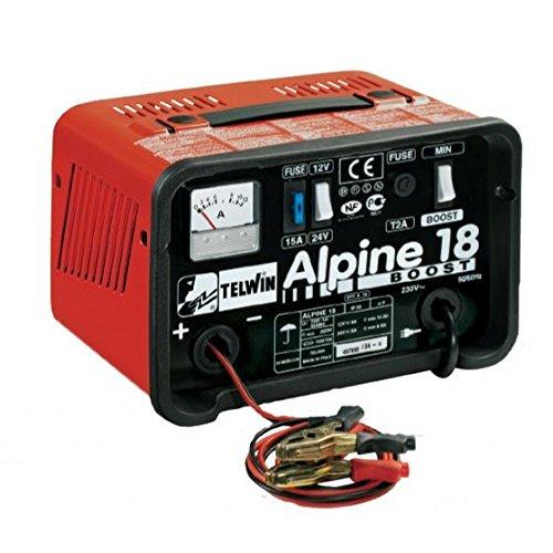 Carica batterie Telwin Modello ALPINE 18 12-24V con protezione da sovraccarich