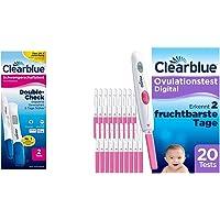 Clearblue Schwangerschaftstest Kombipack Double Check Frühtest, (1x 2 Tests) & Kinderwunsch Ovulationstest Digital…