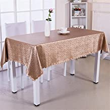 FFJTS Descarga cuadrada resistente al agua cuadrada europea Anti-Hot Disposable PVC-Tablecloths , 140*140