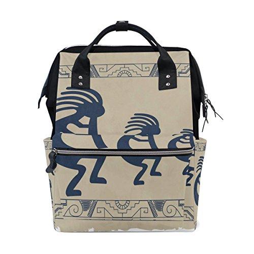 bennigiry Aboriginal Indianer Wickeltasche Rucksack groß Kapazität Reise Back Pack Wickeltaschen Organizer Multifunktions-Baby Staubbeutel für Mama