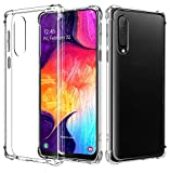 AIFIVE Samsung Galaxy A50 Clear Case, Soft TPU Cover with
