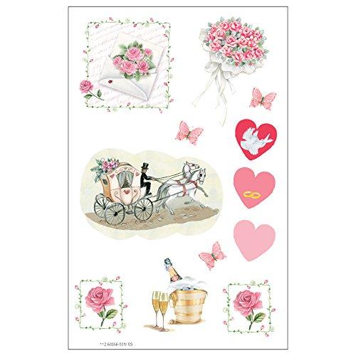 Susy Card 11260056 Sticker Hochzeit 1.3, FSC, 3 Bogen selbstklebend