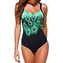 Juleya Trajes de Baño para Mujer Bikinis Bonitos Triangl Deportivos Bañadores Mujeres Bikini Cuello en V Hueco Retro Ropa de Baño Swimwear Bikiny Bañador Vestido Traje Baño One Piece