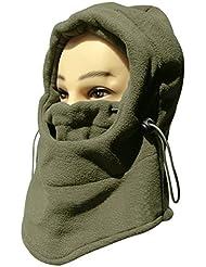 Casco de cálido de cuello de Mejilla Unisex invierno Cara Sombrero Fleece Capucha Máscara de esquí Equipo, máscara de esquí cálido Casco y # xFF08; ArmyGreen y # xFF09;