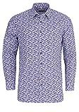 Marvelis Modern Fit Hemd extra Langer Arm Blumenmuster hellblau Größe 46