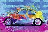 Close Up Splash Buggy Beetle Poster Parker Greenfield (91,5cm x 61cm) + weiße Geschenkverpackung. Verschenkfertig!