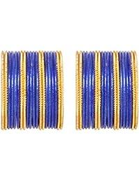Sanara Bollywood Blue & Golden 38 Bangles Beautiful Bangle Set Women Traditional Party & Daily Wear Fashion Jewellery