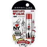 Maybelline Alia Loves New York Baby Lips Lip Balm, Broadway Red, 4g