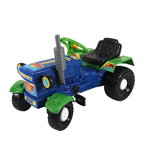 Kindertraktor Maxi Trettraktor Tretauto Tretfahrzeug Fahrzeug Spielzeug Kinder (blau)