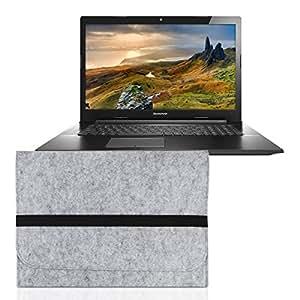 kwmobile Housse pour ordinateur portable feutre sleeve pour Lenovo G70-70 - housse de protection étui pour ordinateur portable en gris avec compartiments internes