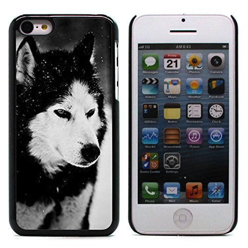 Graphic4You Wolf Tier Design Harte Hülle Case Tasche Schutzhülle für Apple iPhone 5C Design #3