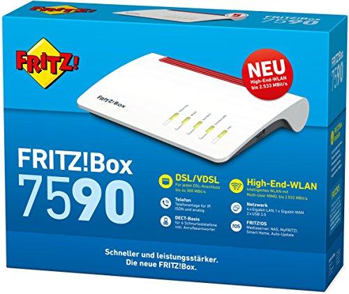 AVM FRITZ!Box 7590 High-End WLAN AC + N Router - 4