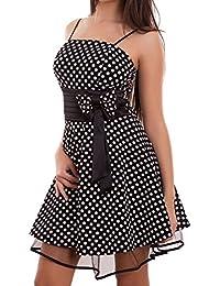 Toocool - Vestito Donna Miniabito Abito Corto Ruota Pois Fiocco Velato Sexy  Nuovo WD-2148 c3ff6c297af