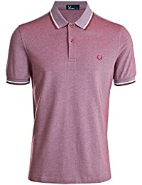 Fred Perry Hombres doble punta m3600 polo camisa Caoba