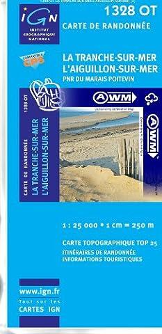 TOP25 1328OT ~ La Tranche-sur-Mer, L'Aiguillon-sur-Mer carte de randonnée imperméable