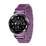 ZYWTZ® Pulsera Deportiva Bluetooth 4.0 para Mujer,IP67 A Prueba De Agua,Ritmo Cardíaco/Presión Arterial/Prueba De Sueño, IPS Pantalla En Color De Alta Definición,Purple