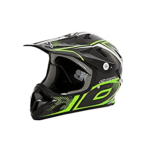 0488R-502 - Oneal Spark Fidlock Carbon Race DH Cycle Helmet S Neon Green