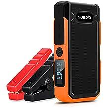 Suaoki U10 - Jump Starter de 20000mAh, 800A Batería Arrancador de Coche (Batería Externa Recargable, LED Flashlight, Multifunción, Con pinzas inteligentes) Naranja
