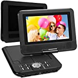 NAVISKAUTO 7 Inch HD Portable DVD/CD/MP3 Player USB/SD Card Reader With 4-5 Hour Built-In Rechargeable Battery