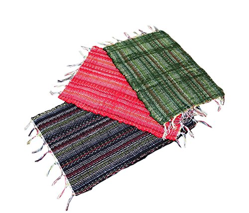 Online Quality Store Stylish Door mats set of 3 multi Cotton  available at amazon for Rs.149