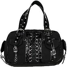 05f580baea3de Longtime Henkeltasche schwarz - Korsett Tasche mit Schnürung Gothic Metal  Rockig