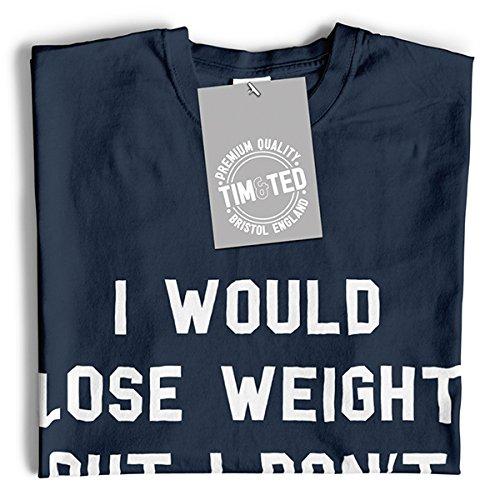 Ich würde Gewicht verlieren, aber ich mag nicht Lustige Fitness Slogan verlieren Herren T-Shirt Red