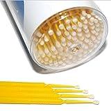 100 Stück Applikator Microfaser Reinigungsstäbchen- Gelb 2 mm