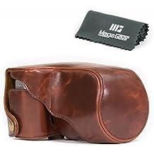 """MegaGear """"Ever Ready"""" - Funda Protectora de Cuero Marrón Oscuro para la Cámara Fujifilm X-A3, X-A2, X-A1, X-M1 con lente 16-50mm"""