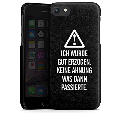 Apple iPhone X Silikon Hülle Case Schutzhülle Leben Spruch Humor Hard Case schwarz
