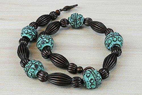yarduna-mykonos-inspired-globe-patina-bracelet-21-cm-built-with-round-metal-beads-with-patina-and-wi