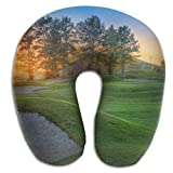 Uosliks Nice Golf Course Sand Pit Memory Foam U-Shaped Pillow,Unique Travel Rest Pillow