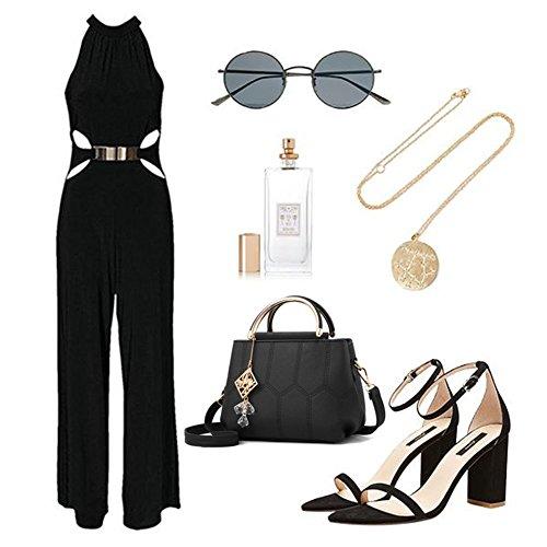 Sacchetti alla moda Yoome per ragazze in scuola superiore Borse eleganti per la borsa della maniglia per le donne Borse per signore - Grigio Rosa
