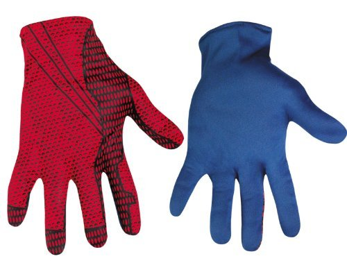 Amazing Spider-Man Short Costume Gloves Adult One Size (Web Shooter Spiderman Kostüm)