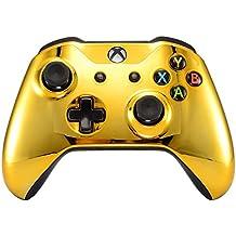 eXtremeRate Schutzhülle Obere Case Hülle Cover Oberschale Skin Schale Gehäuse Shell für Xbox One S/Xbox One X Controller(Chrome Gold)