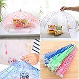 wlgreatsp Regenschirm Mesh Screen Food Cover Zelt, mit wiederverwendbarem und zusammenklappbarem Picknick für den Außenbereich, Mesh, Food Cover Net, Fliegen, Insekten, Moskitos