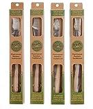 Pinsel mit Bambus - Ökologische Bamboo Zahnbürste 4er Pack