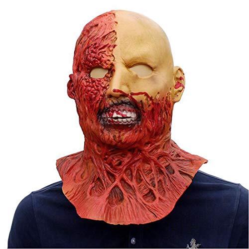 Halloween Horror Gesicht Platzen Kopf Mumien Maske Latex Kopfbedeckungen Scary Gesicht Zombie Dance Show Requisiten