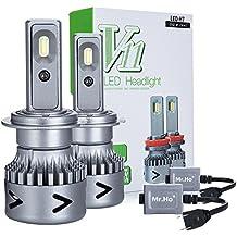 Mr.Ho 2 * H7 LED Faro Bombillas LED Coche Kit, Moto Alquiler de Luces del 6000K Korean Seoul LED Chips IP68 40W 4000LM luz Bombilla Blanca