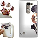 LG G4C funda - CatStyle LG G4C Carcasa,Suave TPU protectora de Silicona de Gel Funda Tapa Case Cover para LG G4C (G4 Mini/H525N) (Tres perros) + 1 x Color aleatorio enchufe del polvo libre