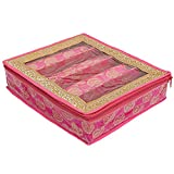 Home Store India Home Store India Wooden 4 Rod Brocade Bangle Box - - Pack of
