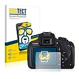 BROTECT für Canon EOS 1200D Schutzfolie [2er Pack] - klare Displayschutzfolie, Crystal-Clear