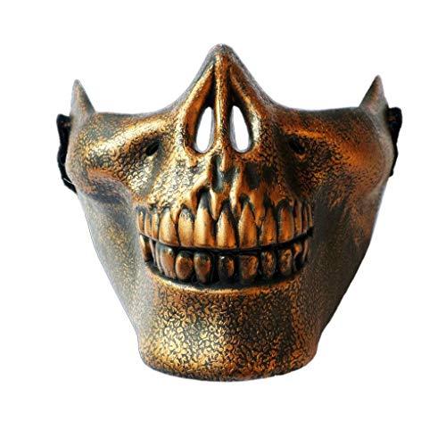 (Gankmachine Halloween Tricky Schädel-Maske Operationen Half Face Schutzmasken Partei)
