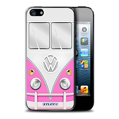 STUFF4 Phone Case / Cover for Apple iPhone 5/5S / Red Design / VW Camper Van Collection Rosa