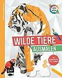 Tierisch geometrisch - Malen nach Zahlen: Wilde Tiere ausmalen: Mit Ausmalposter im XL-Format