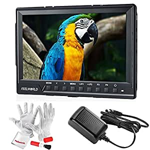 Feelworld FW760 7 Inch IPS Full HD 1920x1200 On Camera Field Monitor 4K HDMI Output With Peaking Focus Assist Histogram Zebra Exposure - 1200:1 Contrast 450cd/m2 Brightness 160 Degree Viewing Angle