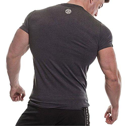 Gold's Gym Maglietta Sportiva - Uomo Charcoal Marl