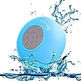 Neuftech altavoz Bluetooth 3.0 impermeable sonido estéreo con ventosa para ducha piscina ect,azul