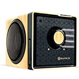 GOgroove Kabelloser Bluetooth Lautsprecher mit NFC und Freisprechfunktion im Holz-Design für Smartphones , Tablets , MP3 Player , Laptops , BlueSYNC BX (Kieferfarben/Schwarz)