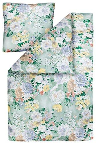 Estella Mako-Interlock-Jersey Bettwäsche Lima 6418 in Mint, 135x200 + 80x80 cm