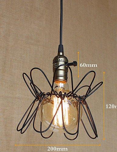 Illuminazione jiaily American Villaggio Industriale deformazione retrò lampadario , giallo-90-240v